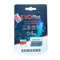 کارت حافظه microSDXC سامسونگ مدل EVO Plus ظرفیت 64 گیگابایت