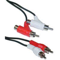 کابل 2 به 2 صدا ( RCA ) افزایشی طول 2متری